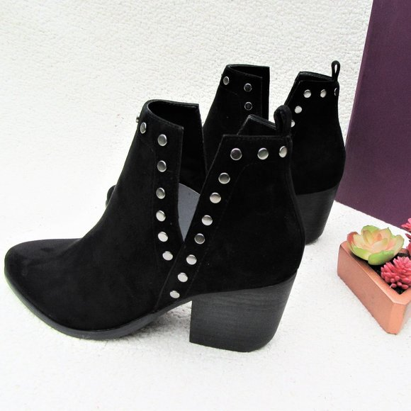 FERGIE Mariella black suede ankle boots booties